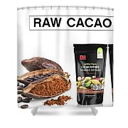 Organic Unroasted Cacao Powder Shower Curtain