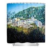 Papigno Village Shower Curtain