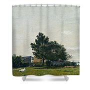 Party Near The Lime Kiln With Views Towards The Copenhagen  Shower Curtain
