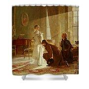 Queen Victoria Receiving News Shower Curtain