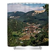 Red River At Sunrise Shower Curtain