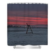 Red Sky In The Morning - Wildwood New Jersey Shower Curtain
