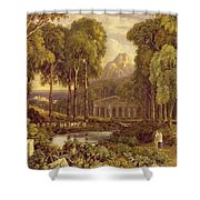 Religious Ceremony In Ancient Greece  Shower Curtain by Francis Oliver Finch