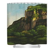 Rocks At Mouthier Shower Curtain
