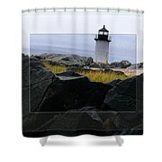 Rocks View Shower Curtain