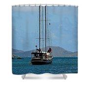 Sailing Virgin Islands Shower Curtain