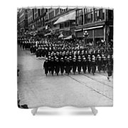 Sailors Marching In Parade 19171918 Black White Shower Curtain