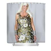 Sara In Clockwork Dragon Dress  Shower Curtain