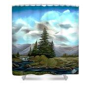 Serpentine Creek Dreamy Mirage Shower Curtain