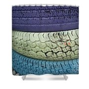 Seventies Tires Shower Curtain