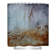 South African  Pertroglyph Shower Curtain