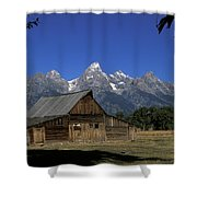 South Moulton Barn Grand Tetons Shower Curtain