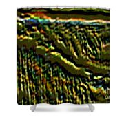 South Rim- N -green Grandeur Shower Curtain