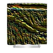 South Rim- N -green Grandeur Shower Curtain