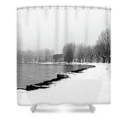 .. Spiaggia Di Neve ... Shower Curtain