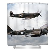 Spitfire And Blenheim Shower Curtain