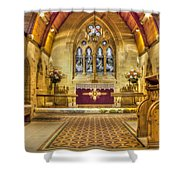 St Lawrence Seal Chart - Chancel Shower Curtain