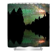 Starry Dreamscape Shower Curtain
