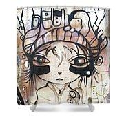 Strange Girl Shower Curtain