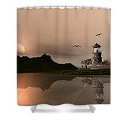 Sunset Ocean Scene Shower Curtain