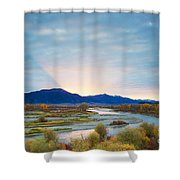 Swan Valley Sunrise Shower Curtain