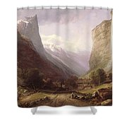 Swiss Scene Shower Curtain by Samuel Jackson