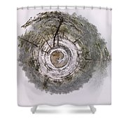 The April World Shower Curtain