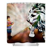 The Boy And The Lion 2 Shower Curtain