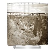 The Crooked River High Bridge Is A Steel Arch Bridge That Spans Oregon Built In 1926  Circa 1929 Shower Curtain