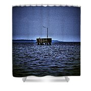 The Dock Of Loneliness Shower Curtain