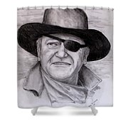 The Duke Shower Curtain by Jack Skinner