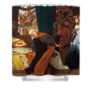 The Feigned Death Of Juliet  Shower Curtain