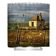 The Harbour At Maryport Shower Curtain
