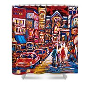 The Night Life On Crescent Street Shower Curtain