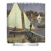The Seine At Argenteuil Shower Curtain