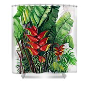 Tiger Claw .. Heliconia Shower Curtain