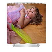 Tired Angel Shower Curtain