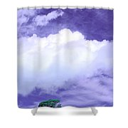 Tree Clouds Hill Shower Curtain