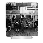 Uso Show May 5 1944 Black White 1940s Archive Shower Curtain