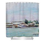 Venice Lagoon Shower Curtain