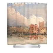 View Of Lambeth Palace On Thames Shower Curtain