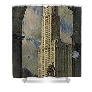 View Of The Woolworth Building Shower Curtain