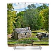 Village Blacksmith Shop Shower Curtain
