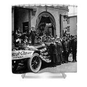 W Recruiting Parade 1918 Black White 1910s Bank Shower Curtain