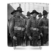 W Soldiers Standing Attention 19171918 Black Shower Curtain