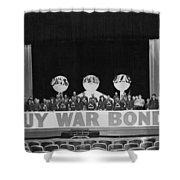 War Bond Rally Buy Bonds February 1944 Black Shower Curtain