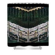 Water Reflection Twofold Shower Curtain