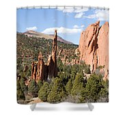 West Garden Of The Gods Shower Curtain
