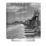 Whitstable Huts Shower Curtain