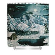 Winter Moon Shower Curtain